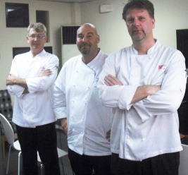 The instructors of First Gourmet Academy with Chef Jason Friendy
